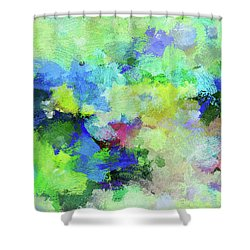 Shower Curtain featuring the painting Abstract Landscape Painting by Ayse Deniz