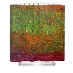 Abstract Landscape Series - Fallen Leaves Shower Curtain