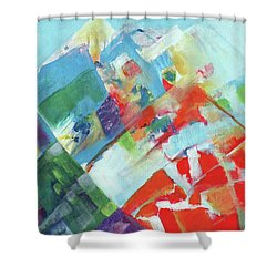 Abstract Landscape1 Shower Curtain