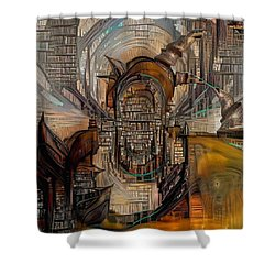 Abstract Liberty Shower Curtain