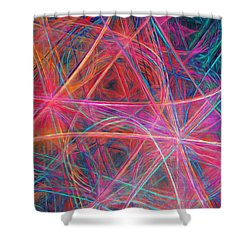 Shower Curtain featuring the digital art Abstract Light Show by Andee Design