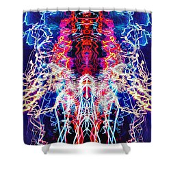 Abstract Lightpainting Oil Style Unique Poster Image Shower Curtain