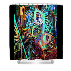 Abstract Line 3 Shower Curtain