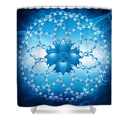 Abstract Lotus Flower Symbol Shower Curtain