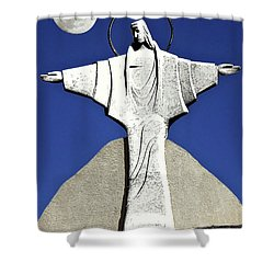 Abstract Lutheran Cross 5 Shower Curtain by Bruce Iorio