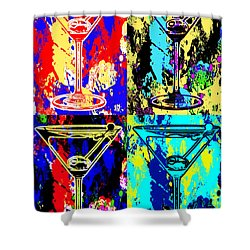 Abstract Martini's Shower Curtain by Jon Neidert