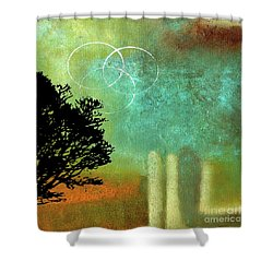 Abstract Modern Art Eternity Shower Curtain by Saribelle Rodriguez