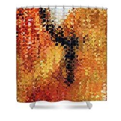 Abstract Modern Art - Pieces 8 - Sharon Cummings Shower Curtain by Sharon Cummings