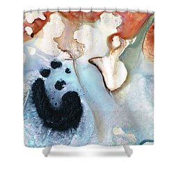 Shower Curtain featuring the painting Abstract Modern Art - The Vessel - Sharon Cummings by Sharon Cummings