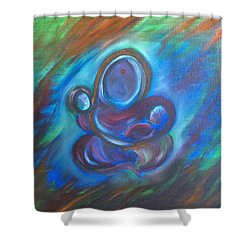 Abstract Mother Shower Curtain