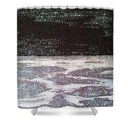 Shower Curtain featuring the painting Abstract Nail Polish Jg7 by Jasna Gopic