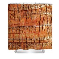 Abstract Nature Palm Tree Bark 704 Orange Shower Curtain