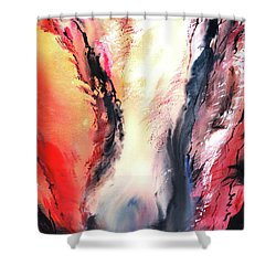 Shower Curtain featuring the painting Abstract New by Anil Nene