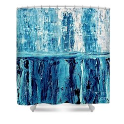 Abstract Niagra Falls Shower Curtain by Marsha Heiken