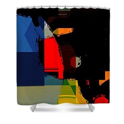 Abstract Night Shower Curtain