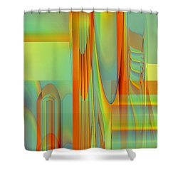 Abstract No 33 Shower Curtain