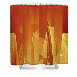 Abstract No 34 Shower Curtain
