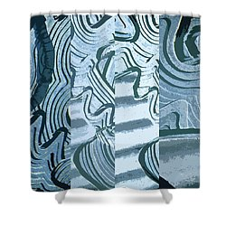 Abstract No. 57-1 Shower Curtain
