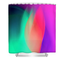 Abstract No. 6 Shower Curtain