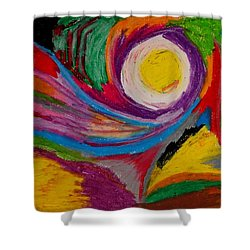 Abstract No.6 Innerlandscape Shower Curtain by Maria  Disley