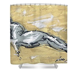 Abstract Nude Shower Curtain