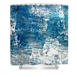 Abstract Ocean Blue Shower Curtain