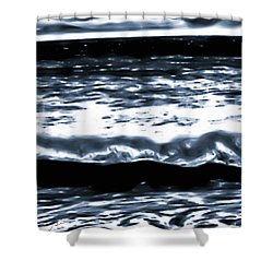 Abstract Ocean Shower Curtain