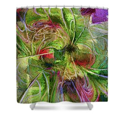 Shower Curtain featuring the digital art Abstract Of Color by Deborah Benoit