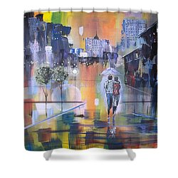 Abstract Of Motion Shower Curtain by Raymond Doward