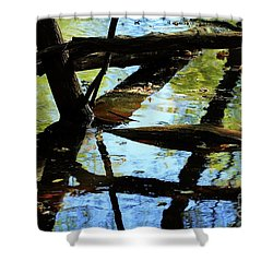 Abstract Of St Croix River 03 Shower Curtain