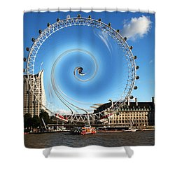 Abstract Of The Millennium Wheel Shower Curtain