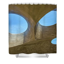 Abstract Of The Roof Shower Curtain by Gary Slawsky