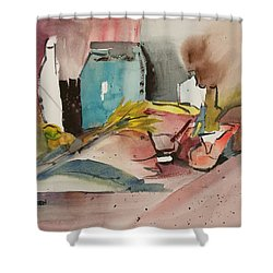 Abstract Opus 3 Shower Curtain by Larry Hamilton