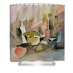 Abstract Opus 4 Shower Curtain