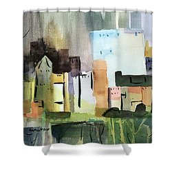 Abstract Opus 5 Shower Curtain