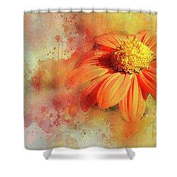 Abstract Orange Flower Shower Curtain