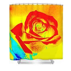 Single Orange Rose Abstract Shower Curtain