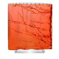 Abstract Orange Shower Curtain