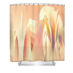 Abstract Orange Yellow Shower Curtain