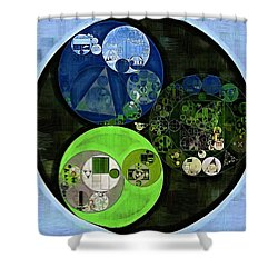 Abstract Painting - Asparagus Shower Curtain