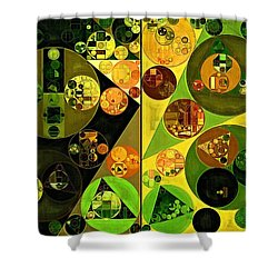 Abstract Painting - Barberry Shower Curtain