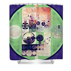 Shower Curtain featuring the digital art Abstract Painting - Blanc by Vitaliy Gladkiy