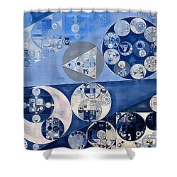 Abstract Painting - Blue Whale Shower Curtain