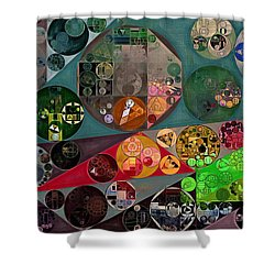 Abstract Painting - Chicago Shower Curtain