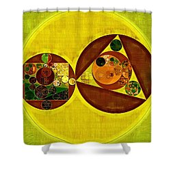 Abstract Painting - Citrine Shower Curtain