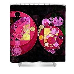 Abstract Painting - Deep Carmine Shower Curtain by Vitaliy Gladkiy