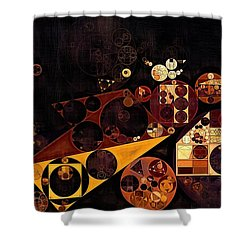 Shower Curtain featuring the digital art Abstract Painting - Fire Bush by Vitaliy Gladkiy