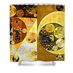 Shower Curtain featuring the digital art Abstract Painting - Golden Brown by Vitaliy Gladkiy
