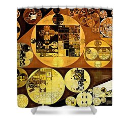 Shower Curtain featuring the digital art Abstract Painting - Mai Tai by Vitaliy Gladkiy