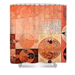 Abstract Painting - Mandys Pink Shower Curtain